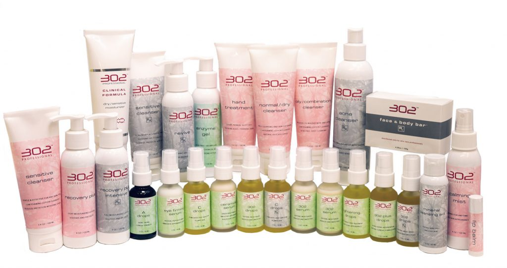 302 skin care product range